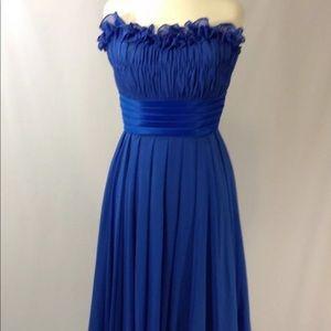 Morilee byMadeline Gardner Royal Blue Ruffle dress